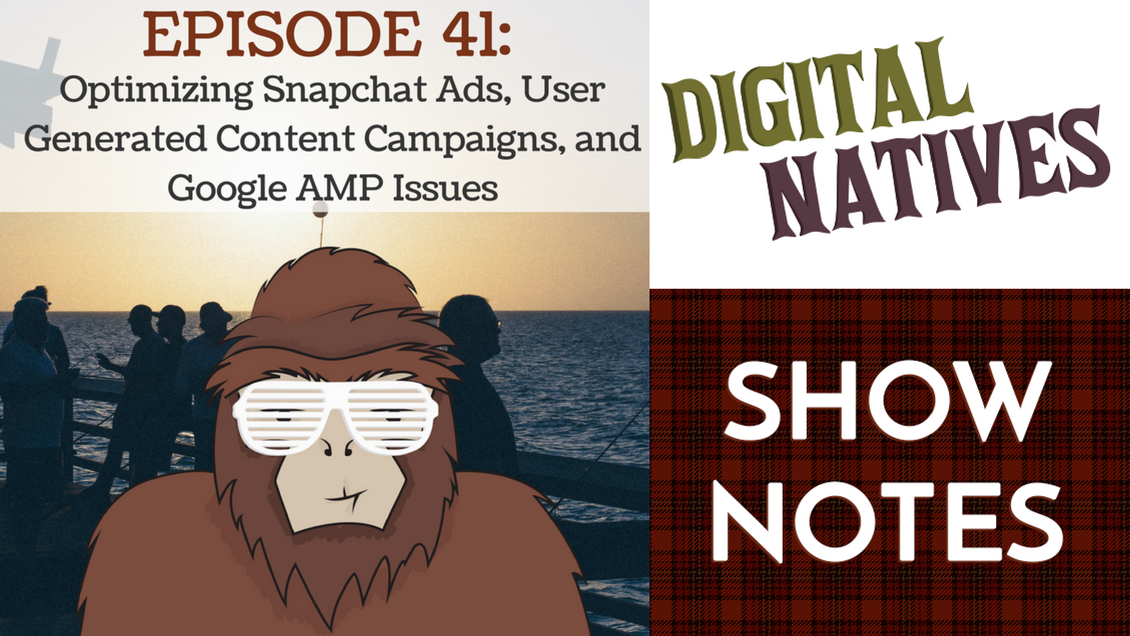 Episode 41 – Optimizing Snapchat Ads, User Generated Campaigns, and Problems with Google AMP
