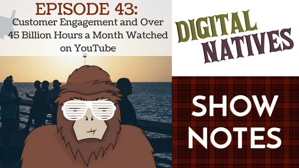 Episode 43: Customer Engagement and Over 45 Billion Hours a Month Watched on YouTube