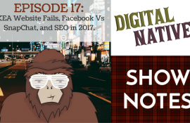 Episode 17 – IKEA Website Fails, Facebook vs Snapchat, and SEO in 2017