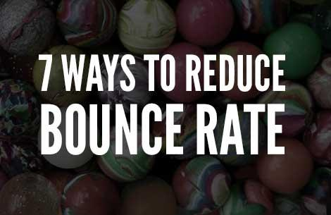 Reducing Bounce Rate