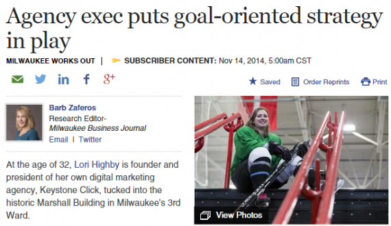 Lori Highby featured in Milwaukee Business Journal